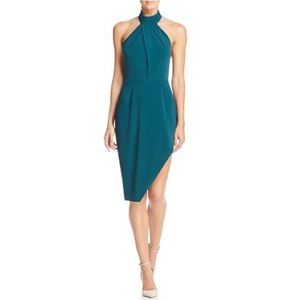 Stylestalker Riscal Asymmetrical Halter Neck Dress